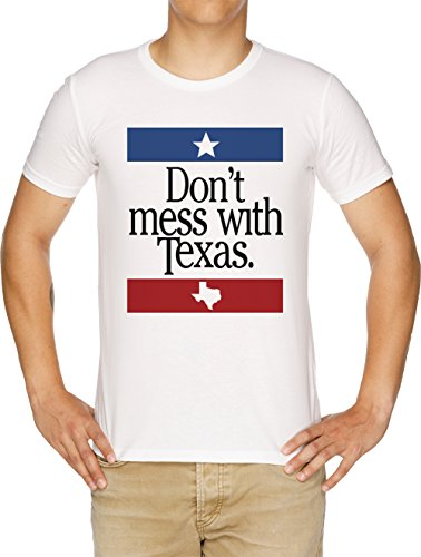 Vendax Dont Mess with Texas T-Shirt Uomo Bianco