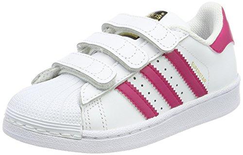 adidas Superstar Foundation CF C, Zapatillas de Baloncesto Unisex niño, Blanco (Ftwbla/Rosfue/Ftwbla 000), 35 EU