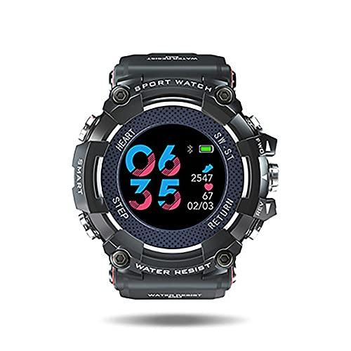 PDGWCK Corriendo Relojes Inteligentes, Relojes para Hombres, Reloj Multifuncional al Aire Libre, Relojes de Pulsera, Datos precisos, para Uso en Exteriores, Black