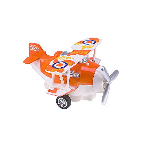 HSOMiD Pull Back Vehicle for Toddler,Mini Airplanes Pull Back and Go Car Plane Toy - Fun Travel Toys (Orange)