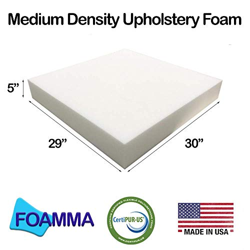 Why Choose FOAMMA 5 x 29 x 30 Medium Density Upholstery Foam Cushion (Seat Replacement, Upholster...