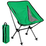 Portable Camping Backpacking Chair-Ultralight Lightweight Folding Camping Chairs in Carry Bag 300 Lbs Capacity Compact for Outdoor Camp, Travel, Beach, Picnic, Hiking