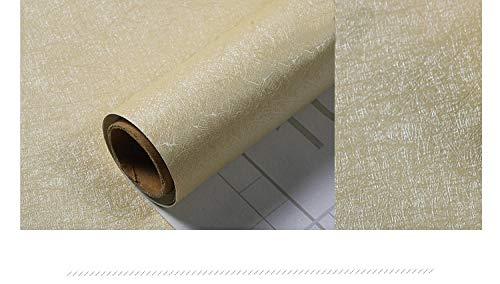 Papel Pintado Enrejado Lado Armario Decoración Papel de ContactoNuevo Color Sólido Autoadhesivo Vinilo Sala de Sala de Cocina Muebles Pegatinas Impermeable (Marrón Claro)-45cmx5m