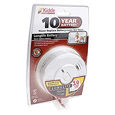 6 Pack of Kidde i9010 10-Year Sealed Lithium Battery-Operated Smoke Alarm with Memory and Smart Hush