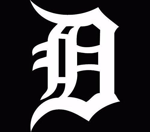 Detroit Tijgers Oud Engels D Decal/Sticker Wit, Die Cut Vinyl Decal voor Windows, Auto's, Vrachtwagens, Gereedschapskisten, laptops, MacBook - vrijwel Elke Harde, Glad Oppervlak