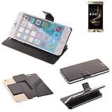 K-S-Trade® Schutz Hülle Für Asus ZenFone 3 Deluxe (ZS550KL) Schutzhülle Flip Cover Handy Wallet Case Slim Handyhülle Bookstyle Schwarz