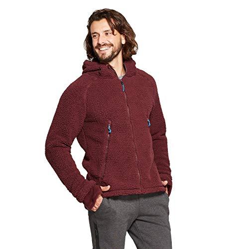 Champion C9 Men's Sherpa Lined Fleece Jacket - Variety - (Rich Maroon, Small)