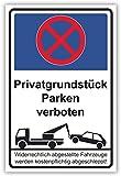 SCHILDER HIMMEL anpassbares Parken verboten Schild 29x21cm Kunststoff, Privatgrundstück Nr 54 eigener Text/Bild verschiedene Größen/Materialien