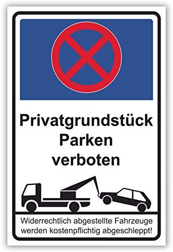 SCHILDER HIMMEL anpassbares Parken verboten Schild 42x29cm Alu-Verbund mit Schrauben, Privatgrundstück Nr 54 eigener Text/Bild verschiedene Größen/Materialien