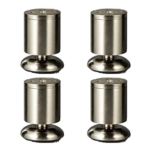 WYBW Patas de soporte para muebles, 4 piezas Patas de muebles Patas de sofá de aleación de zinc ajustables Patas de muebles Accesorios Reemplazo de gabinete de mesa Patas de cama de metal Elevadores