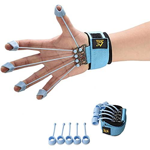 hand exercise equipment Finger Exerciser Hand Strengthener Hand Exercise Equipment Finger Resistance Band Climbing Finger Strengthener Guitar Finger Stretcher Finger Extensor Strengthener 40LB