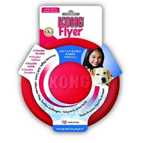 KONG - Flyer - Frisbee in gomma resistente per cani - Taglia L