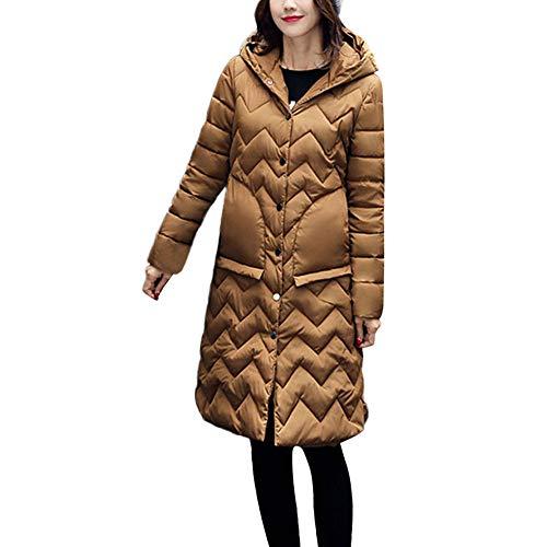 Vrouwen Lange Mouw Winter Warm Dikke Jas Dames Gewatteerde Effen Kleur Katoen Hooded Jas Outwear Overcoat
