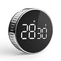 timer da cucina, cronometro o conto alla rovescia digitale timer per cottura classe studio allenarsi magnetico countdown contaminuti egg timer kitchen timer display lcd, knob twist design