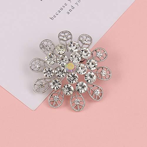 THNSIOE Broche Flores Diamantes imitación Cristal