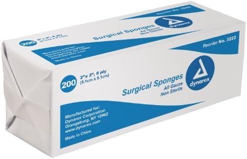 San Antonio Mall 'Dynarex Standard Gauze Sponges Non-Sterile - In Max 64% OFF X Pl 3 8