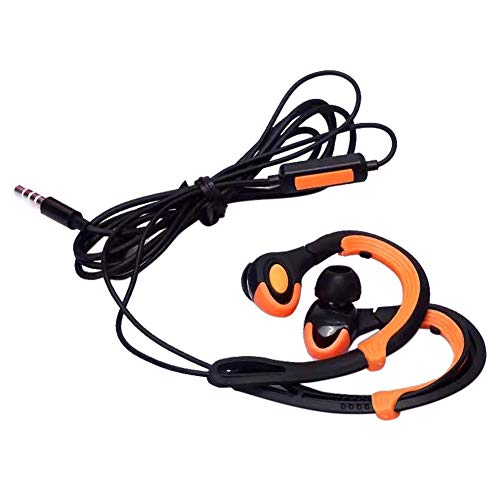 TEEKOO Ohrhaken-sportkopfhörer, Kabelgebundenes Mobiltelefon-Headset con PVC-parallelkabel und 3,5-mm-rundlochstecker