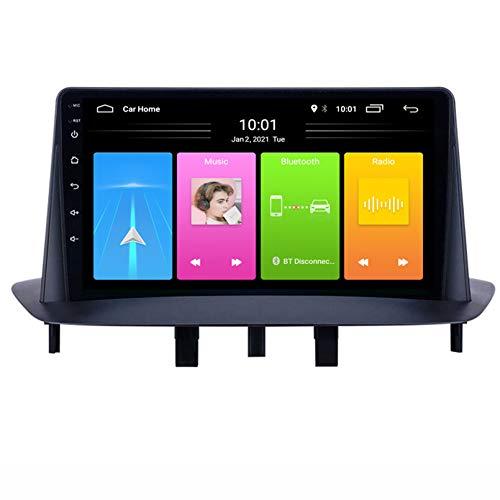 Android Autoradio Radio Double DIN Sat Nav para Megane 3 Navegación GPS 2.5D Pantalla Táctil Reproductor Multimedia FM Am DVD Video Receiver(Color:WiFi 1G+16G)