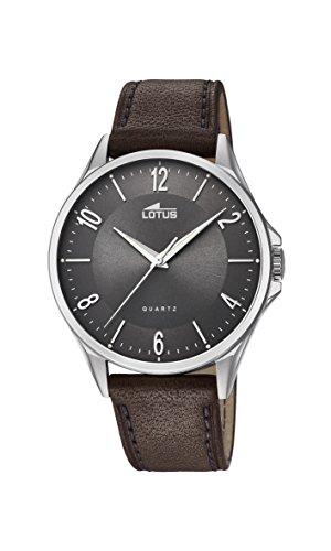 Lotus Herren Analoger Quarz Uhr mit Echtes Leder Armband 18518/2