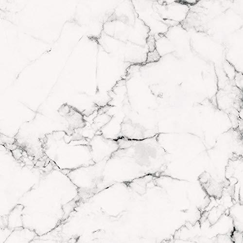 PrintYourHome Fliesenaufkleber für Küche und Bad | Dekor Marmor Weiß Schwarz | Fliesenfolie für 15x15cm Fliesen | 8 Stück | Klebefliesen günstig in 1A Qualität