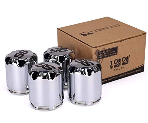 10L0L ITP SS Wheel Center Hub Cap 8,10,12 Inch Push in Style Chrome SS Center Caps for Golf Cart Wheel