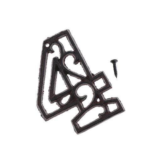 Aomerrt 8cm Hierro fundido Metal N/úmero de puerta Signo N/úmero de casa D/ígitos para Hotel Apartamento Inicio Calle Jard/ín Decoraci/ón de bricolaje al aire libre n/úmero 3 montado en la pared
