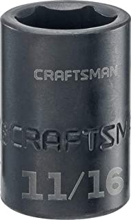 CRAFTSMAN Shallow Impact Socket, SAE, 1/2-Inch Drive, 11/16-Inch (CMMT15853)