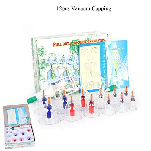CFtrum 12Pcs Soin beauté en Plastique Massage Cups- Soins du Corps Ventouse Anti-cellulite Masseur Set amincissant Dispositif de Massage sous vide
