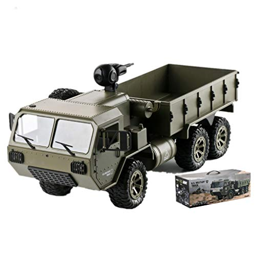 JJIIEE Rc Cars with WiFi Camera 6WD Off-Road RC Military Truck,All Terrain Camera Off-Road Climbing Vehicle with LED Light Best Gift Choice for Adults and Kids