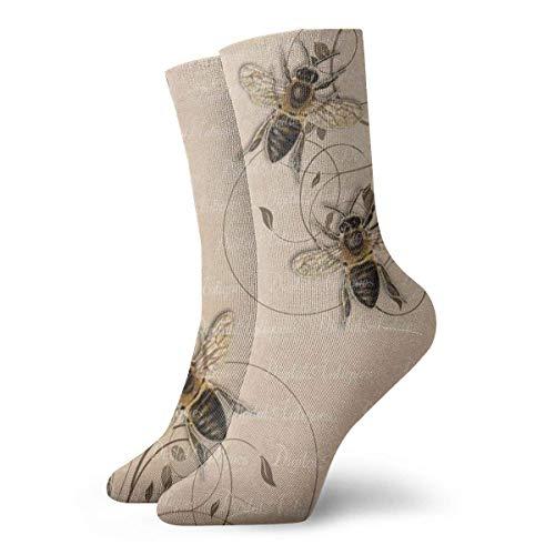Generic Bienen-Honigbienen-Männer druckten lustige Neuheit-beiläufige Mannschafts-Kleid-Socken für Frauen/Unisex 19.7 Zoll