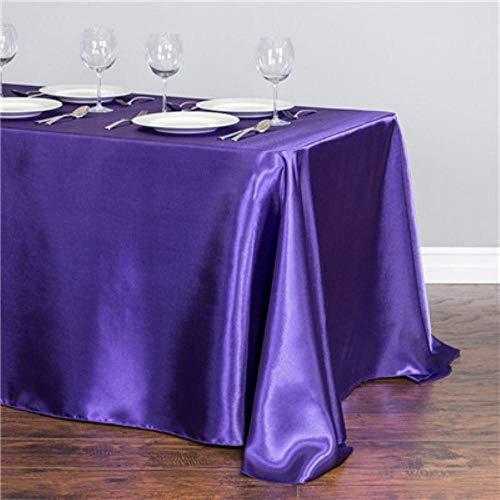 EDCV tafelkleed woondecoratie satijnen tafelkleed moderne stijl goud wit voor kerst bruiloft tafel dekken, paars