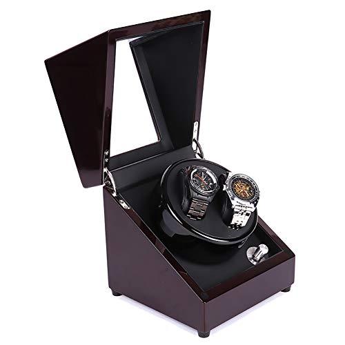 GUOSJ Doble Cajas giratorias para Relojes automáticos, diseño antimagnético de la Vitrina Almacenamiento del Reloj Automatic Watch Winder, 5 Modos de rotación, Rojo + Negro