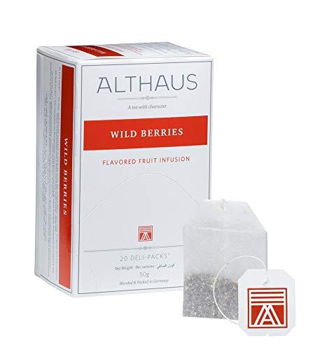 Althaus Deli Pack Wild Berries 20 x 2,5g ⋅ Früchtetee im klassischen Teeaufgussbeutel