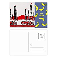車の山の中国革命 バナナのポストカードセットサンクスカード郵送側20個