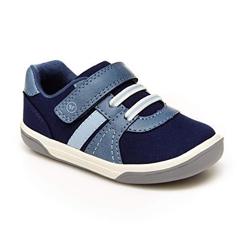 Stride Rite boys Thompson Sneaker, Navy, 4 Little Kid US