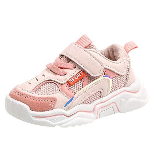 WEXCV Kinder Unisex Baby Jungen Mädchen Schuhe Kontrastfarbe Sport Running Turnschuhe Leicht Sneaker Casual Laufschuhe Hallenschuhe Anti-Rutsch Freizeitschuhe