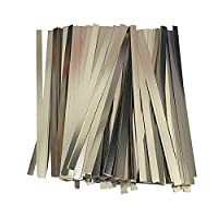 ニッケルメッキ ニッケルメッキ鋼帯 0.1*3*100mmリチウム電池接続部品18650 スポット溶接 ニッケルメッキストリップ バッテリーアクセサリー DIYニッケルシート (50枚)