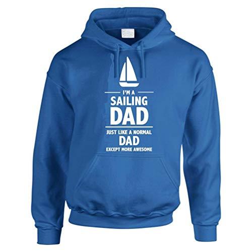 Im A Sailing DAD - Día del Padre/Regalo Deportivo/Novedad/Sudadera con capucha para hombre