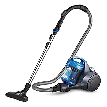 Eureka NEN110A Whirlwind Lightweight Bagless Canister Vacuum Cleaner for Carpets and Hard Floors Blue  Renewed