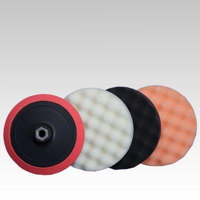 Preisvergleich Produktbild Premium Polierschwamm Set gewaffelt 3tlg. Kombi Ø180mm +Polierteller