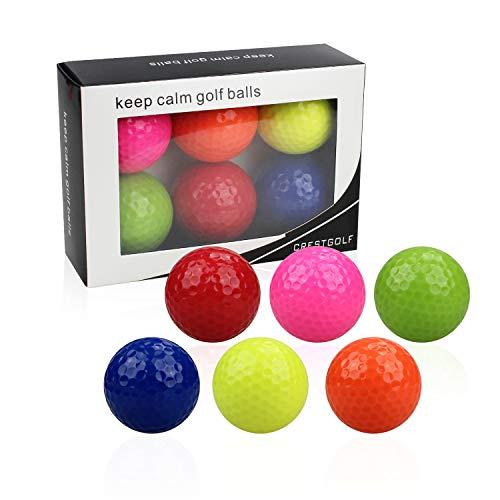 Kofull Golfbälle Golfübungsbälle Minigolfbälle Bunte Golfübungsbälle Trainingsgolf (gemischte Farbe) 6er Pack