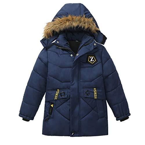 Conjunto y Trajes para niños, SIKSIL Fashion Kids Coat Niños Niñas Abrigo Grueso Chaqueta de Invierno Acolchada Ropa Azul Oscuro