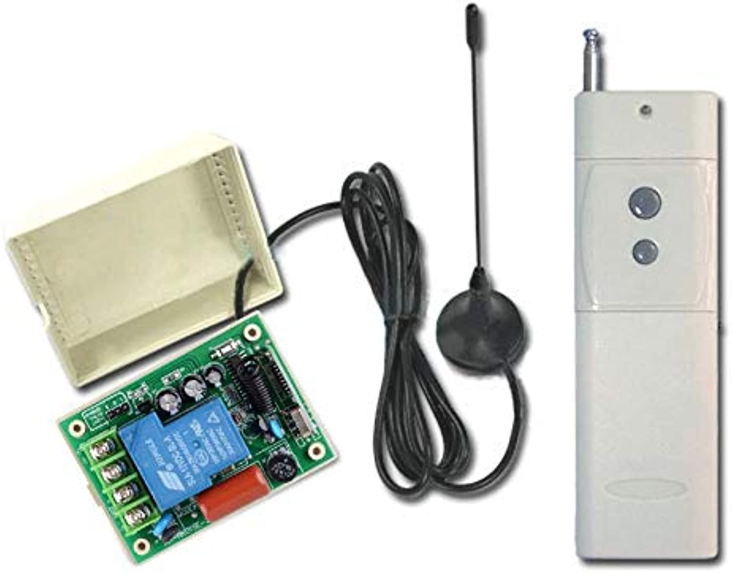 3000M AC 220V 10A 1CH 315 433MHz RF Wireless Remote Control Power Switch Radio Controller Transmitter Receiver with Antenna