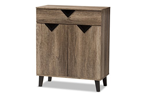 Baxton Studio Cambria Shoe cabinet, Light Brown