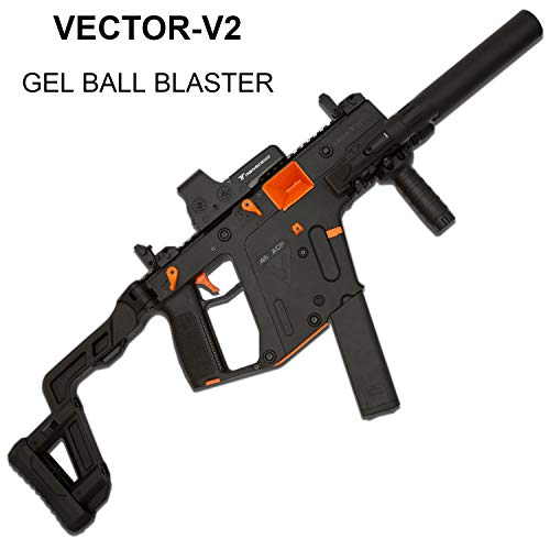 GELRIZTY VECTOR-V2 Gel Ball Blaster - Electric Gel Soil Water Crystal Beads Toy Blaster - Safe and Harmless Toy Pellet Gun - NYLON PLASTIC SHELL