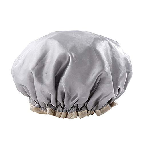 Chapeaux de douche femmes dames filles chapeau de bain pour cheveux longs avec élastique réutilisable Spa imperméable conçu chapeau de douche doublé d