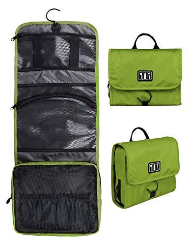 (バッグスマート)BAGSMART トイレタリーバッグ 吊り下げ 旅行 便利グッズ バスルームポーチフック付き 洗面用具入れ 吊り下げ メッシュ