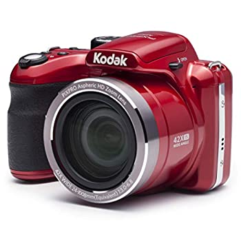 Kodak PIXPRO Astro Zoom AZ421-RD 16MP Digital Camera with 42X Optical Zoom and 3  LCD Screen  Red