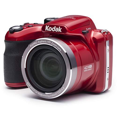 """Kodak PIXPRO AZ421 Cámara Puente 16,15 MP 1/2.3"""" CCD 4608 x 3456 Pixeles Rojo - Cámara Digital (16,15 MP, 4608 x 3456 Pixeles, CCD, 42x, HD, Rojo)"""