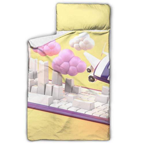 Doreen DaltonKids Schlafsack Maus hat Flügel fliegen um Tastatur, Nickerchen Matte mit Kissen für Kleinkinder Jungen und Mädchen, Klassische Schlafsack, perfekte Größe für die Tagespflege